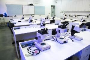 Sala de aulas práticas da graduação